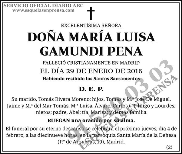María Luisa Gamundi Pena